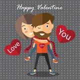 Валентинка пар счастливая Стоковые Фото