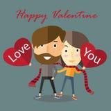 Валентинка пар счастливая Стоковая Фотография RF