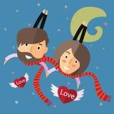 Валентинка пар счастливая Стоковые Изображения