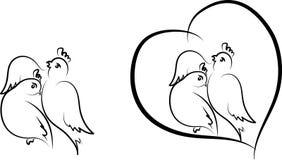 Валентинка - птицы стоковое фото rf
