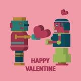 Валентинка робота счастливая Стоковое Изображение RF