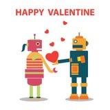 Валентинка робота счастливая Стоковая Фотография