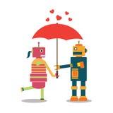 Валентинка робота счастливая Стоковые Изображения