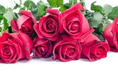 Валентинка розовой флоры цветка счастливая на белой предпосылке Стоковая Фотография RF