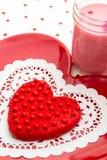 Валентинка украсила печенья Стоковая Фотография RF