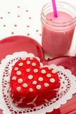 Валентинка украсила печенья Стоковые Изображения RF