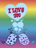 Валентинка для гомосексуалистов, lgbt Стоковые Фотографии RF