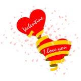 Валентинка, я тебя люблю Стоковые Фотографии RF