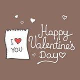 Валентинки вручают вычерченные doodles и элементы дизайна Стоковое Изображение RF