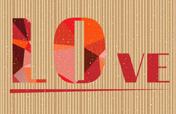 Валентинки чешут при влюбленность текста - сформированная красным цветом Стоковое Фото