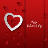 Валентинки чешут с красными сердцами на предпосылке Стоковая Фотография RF