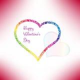 Валентинки чешут с стильными сердцами вектор Стоковые Фотографии RF