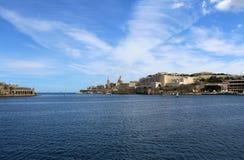 Валлетта, панорамный взгляд, столица, республика Мальты стоковая фотография rf