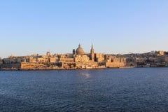 Валлетта, панорамный взгляд, столица, республика Мальты Стоковые Изображения RF