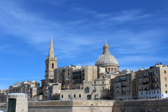 Валлетта, панорамный взгляд, столица, республика Мальты Стоковое Фото