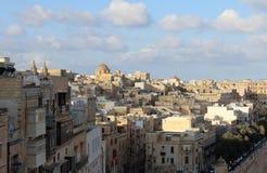 Валлетта, панорамный взгляд, столица, республика Мальты Стоковое фото RF