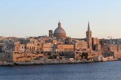 Валлетта, панорамный взгляд, столица, республика Мальты стоковое изображение rf