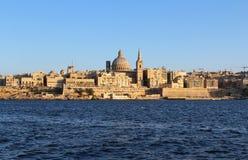 Валлетта, панорамный взгляд, столица, республика Мальты Стоковые Фото