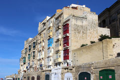 Валлетта, панорамный взгляд, столица, республика Мальты стоковые изображения