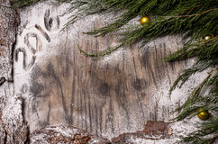 Вал ели рождества с украшением Стоковые Фото