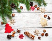 Вал ели рождества с украшением Стоковая Фотография RF