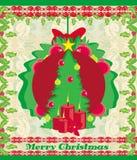 вал зеленого цвета рамки ели рождества предпосылки Стоковое фото RF
