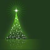 вал зеленого цвета рождества предпосылки Стоковое Изображение RF