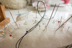 Валик Pin с шить штырями Стоковые Изображения