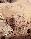 вади рома Иордана пустыни Стоковое фото RF