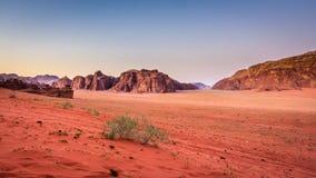 вади рома Иордана пустыни Стоковые Фотографии RF