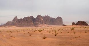 вади рома Иордана пустыни Стоковая Фотография