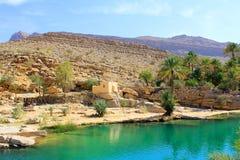 Вади Bani Khalid, Оман стоковые изображения