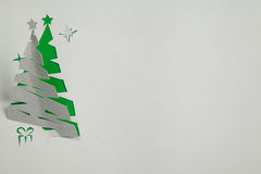 вал красного цвета бумаги иллюстрации рождества предпосылки Стоковая Фотография RF