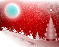 вал красного цвета рождества предпосылки Стоковые Изображения