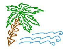 вал моря ладони Стоковое Изображение