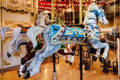 вал орнамента лошади рождества carousel Стоковая Фотография