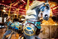 вал орнамента лошади рождества carousel Стоковое Изображение