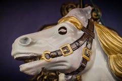 вал орнамента лошади рождества carousel стоковые изображения