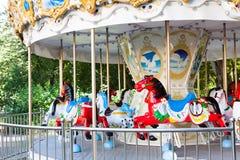 вал орнамента лошади рождества carousel Стоковые Изображения RF