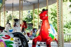 вал орнамента лошади рождества carousel Стоковые Фото