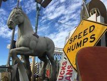 вал орнамента лошади рождества carousel Стоковое Изображение RF