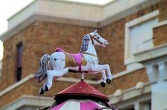 вал орнамента лошади рождества carousel Стоковое Фото