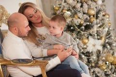 вал семьи рождества счастливый близкий стоковое изображение