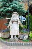 вал скульптуры плотника оси деревянный Стоковое фото RF