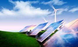 вал способный к возрождению зеленого света цветка энергии принципиальной схемы шарика Стоковое Изображение