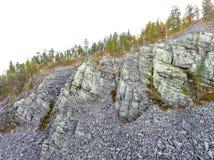 Валуны в Aittakuru в Лапландии Стоковые Изображения RF
