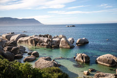 валуны Cape Town пляжа Стоковая Фотография