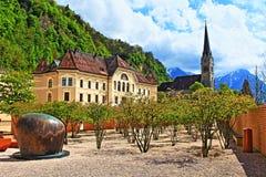 Вадуц Лихтенштейн стоковые изображения