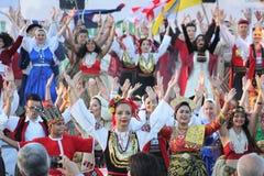 двадцать первый международный фестиваль Vitosha 2017 фольклора Стоковое Фото