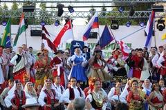 двадцать первый международный фестиваль Vitosha 2017 фольклора Стоковое Изображение RF